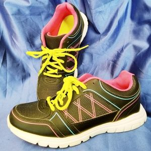 Shoes - Black and Neon Tennis Shoes